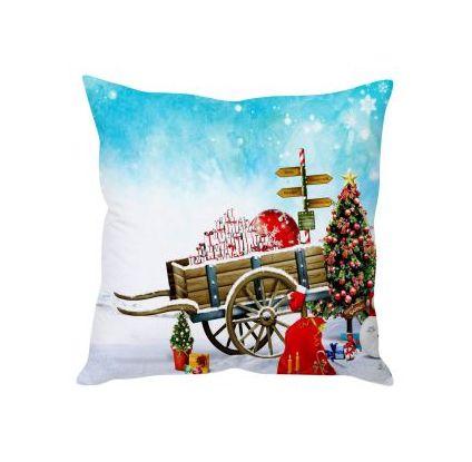Christmas Gift Wagon Cushion Cover