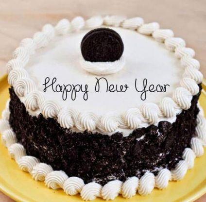 Oreo New Year Cake