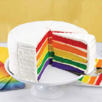 Rainbow Decorated Cake