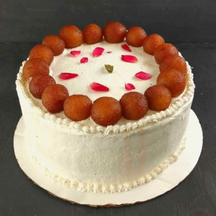 Round Gulab jamun Cake