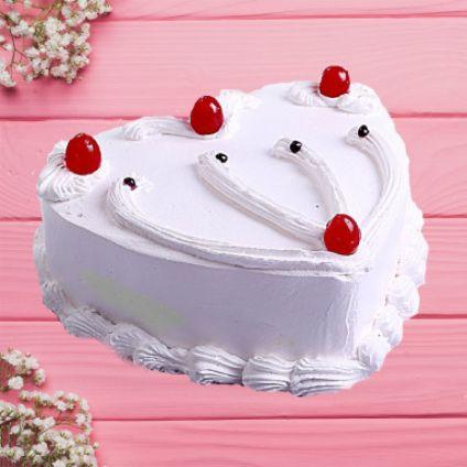 Heart Vanilla Cake