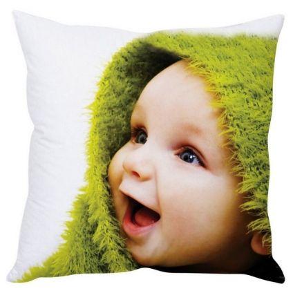 Happy Baby White Silk Cushion