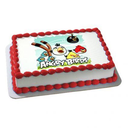 Angry Birds Photo Cake