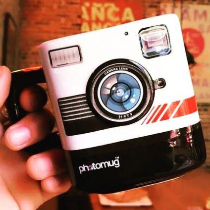 Polaroid Camera Lens Mug