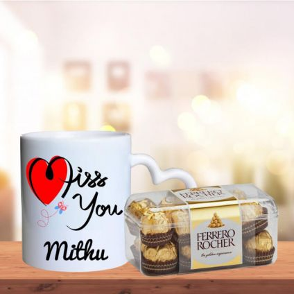 I Miss U Mugs with 16 Pcs Ferrero Rocher