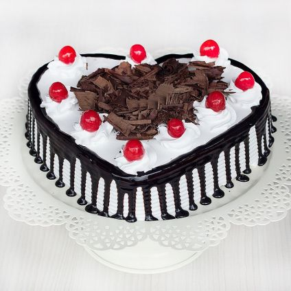 Black Forest Heart Cake