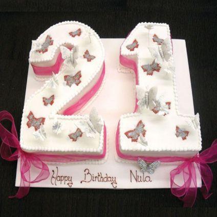 Fondant Number Cake