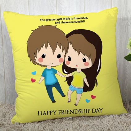 Friendship Day Smile cushion with filler