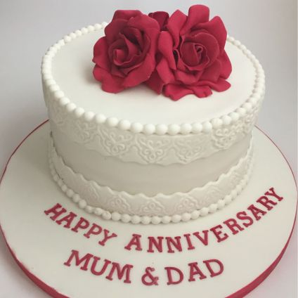 Beautiful Happy anniversary cake