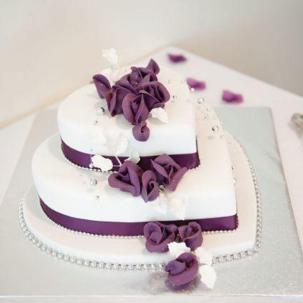 Heart shaped Cake in 2 tier