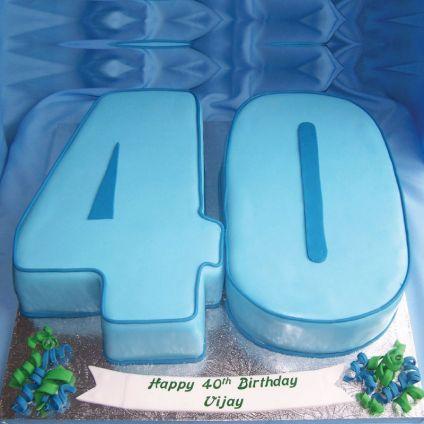 Blue Fondant Cake