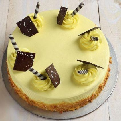 Eggless Creamy Butter Scotch Cake
