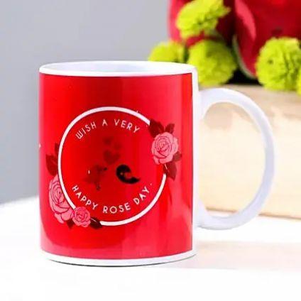 Red Rose day mug