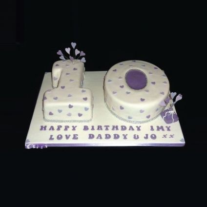 Double Number Shape Cake