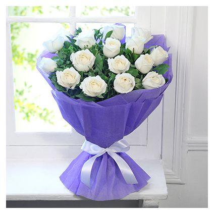 White Roses In Joy
