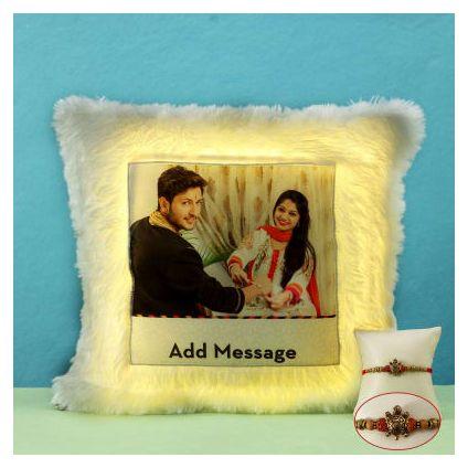Rudraksha Rakhi With LED Cushion
