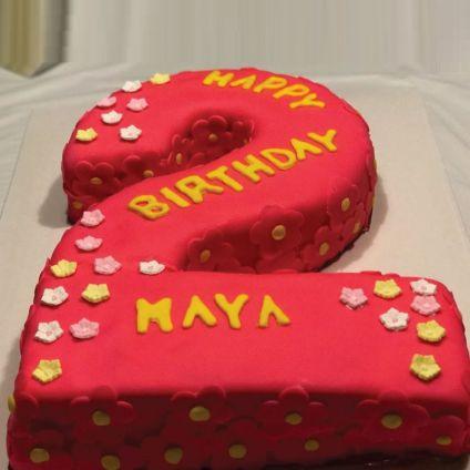 Birthday Number Shape Cake