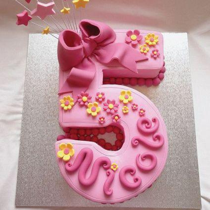 Delight Number Shape Cake