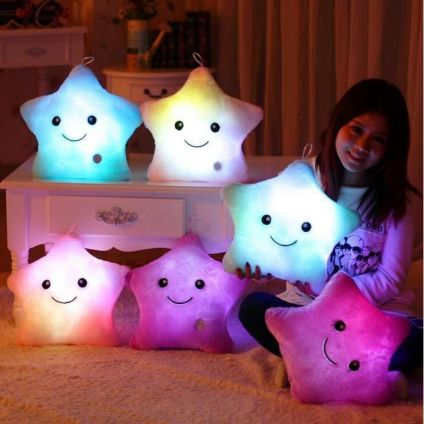 Six Star LED Cushion Pillow Personalized With Photo