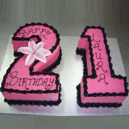 Pink Number Cake