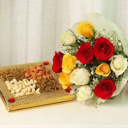 Roses With Dry Fruit