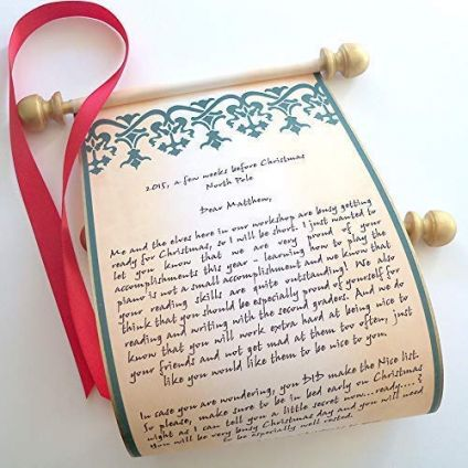 Personalized scroll