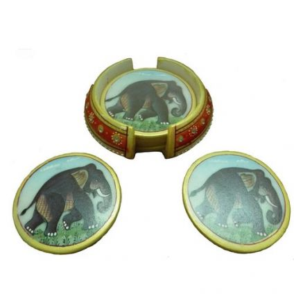Elephant Coaster 6 Pcs