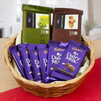 Mixed Chocolates Basket of 8
