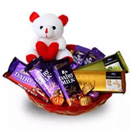 Chocolate basket with Teddy bear