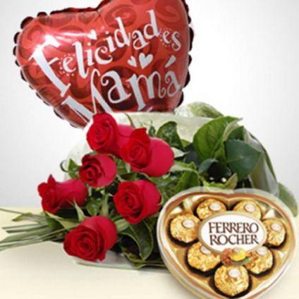 Bouquet, Chocolates & Balloon