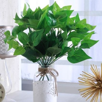 Green Plastic Artificial Green Bush