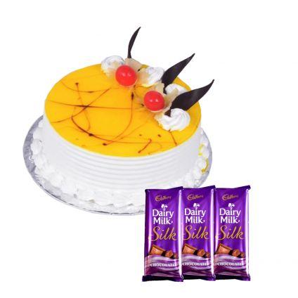 Pineapple cake with silk