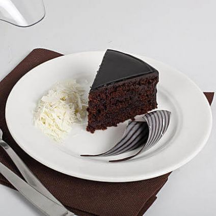 Exotic chocolate cake