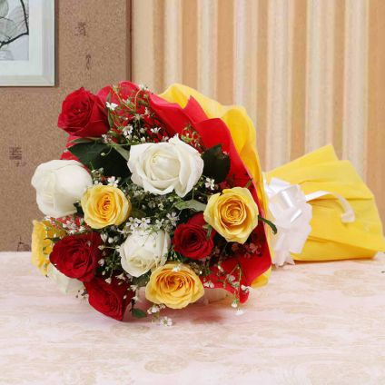 Mixed Roses with Paper packing