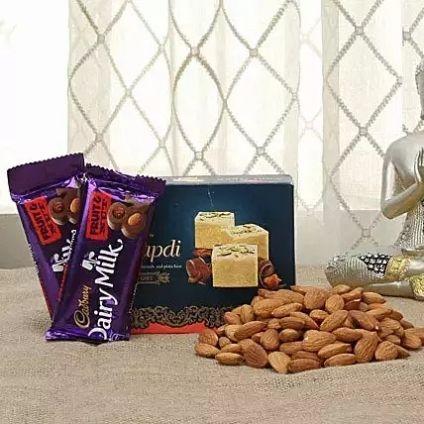 Soan Papdi, Almonds and Chocolate
