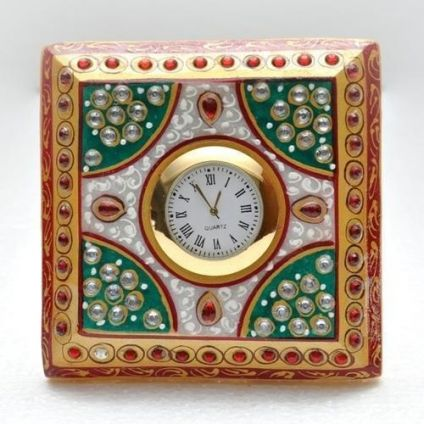 Square marble watch