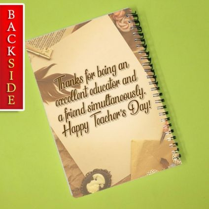 TEACHER'S DAY PERSONALIZED NOTEBOOK