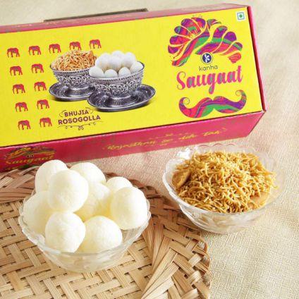 Rossogollas & Bhujia Gift Box