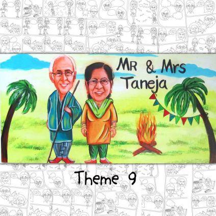 Caricature Nameplate Theme 9