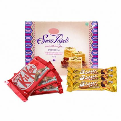 Soan papdi With Mixed Chocolate