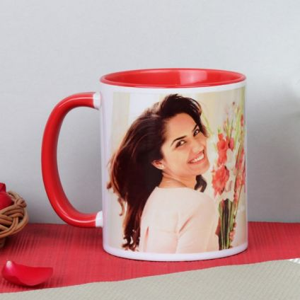 Personalized red mug