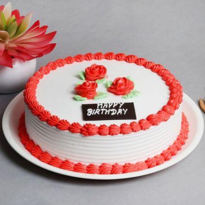 Strawberry Cake 1 Kg Eggless