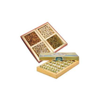 kaju Roll Box with Mixed Dry Fruits