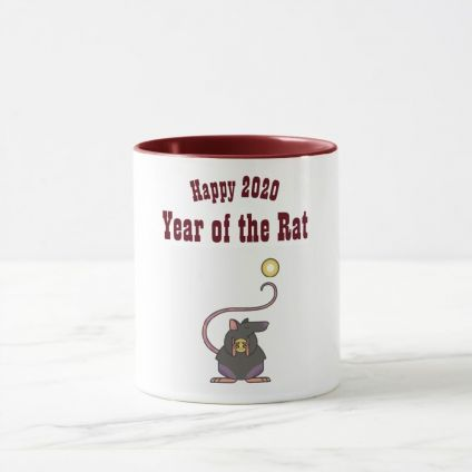 Happy New Year Tri Colour 2 Two-Tone Coffee Mug