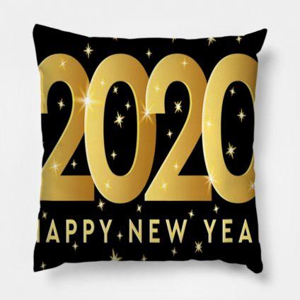 Orange New Year Cushion Cover