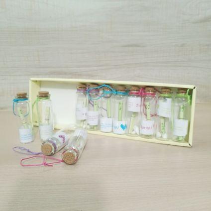 Messages bottle set