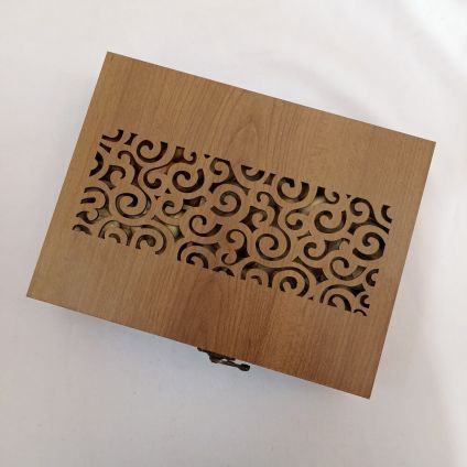 Dry fruits with wooden Box
