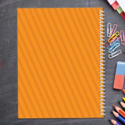 Orange Kids Notebook