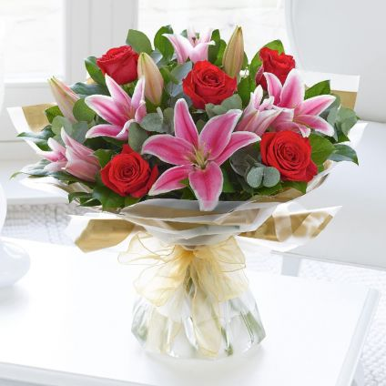Lilies With Roses
