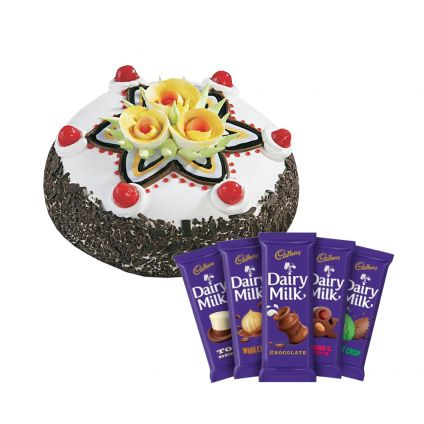 Black forest cake and Dairy Milk